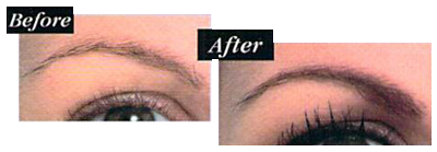 permanent eyebrow makeup before and after photo